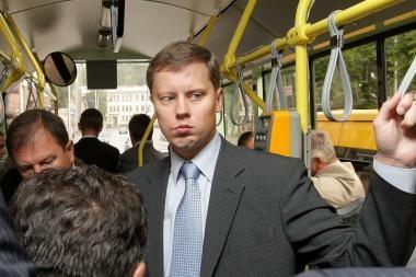 Troleibuse kalbantis A.Kupčinskas užkliuvo etikos sargams
