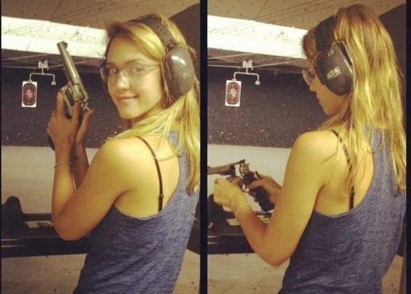 Siekdama meistrystės aktorė J.Alba mokosi šaudyti