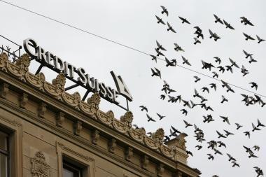 """""""Credit Suisse"""" atleis tūkstančius darbuotojų"""