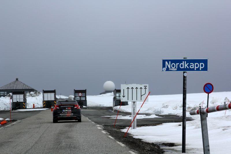 Ekonominio vairavimo ekspedicija pasiekė šiauriausią Europos tašką