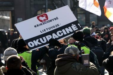 Kovo 11-osios minėjime Kaune neišvengta incidento
