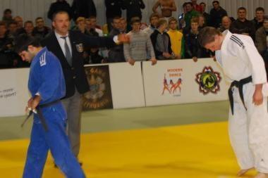 Dziudo čempionate - ambicingų jaunuolių staigmenos