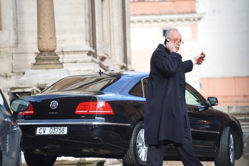 Popiežius Pranciškus užsuko pasimelsti į Romos baziliką
