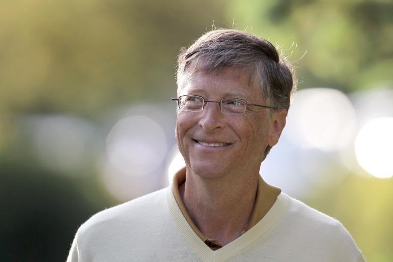 Billas Gatesas tapo įtakingesniu pasaulyje žmogumi nei popiežius