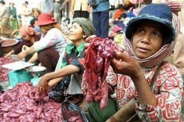 Kambodžoje išaugo žiurkienos paklausa