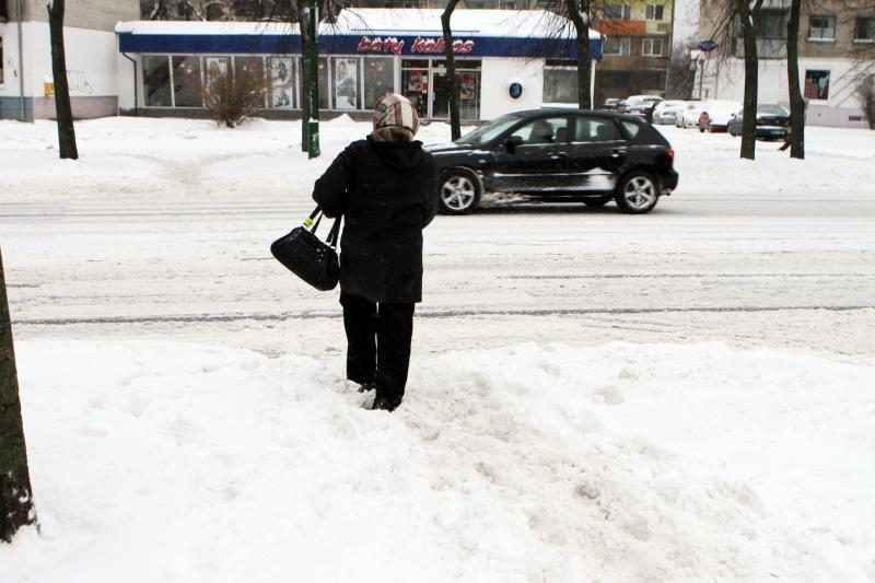 Kol vairuotojai Klaipėdoje vargsta, valytojai taupo jėgas