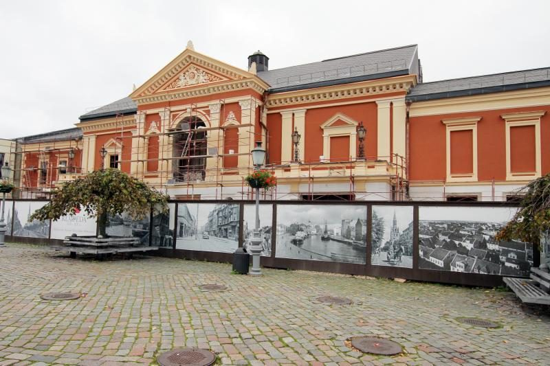 Klaipėdos Dramos teatro fasadas pasirodė visu gražumu
