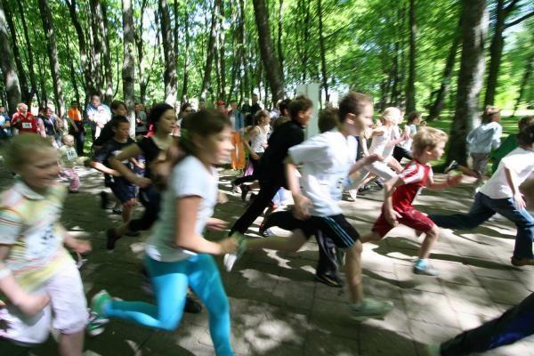 Gargždiškiai Vaikų gynimo dieną pažymėjo bėgimu