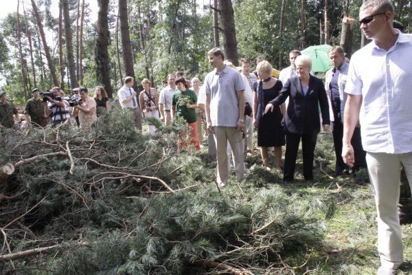 Prezidentė paragino Kauno valdžią netaupyti (papildyta)
