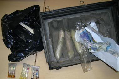 Narkotikus gabeno prezervatyvuose