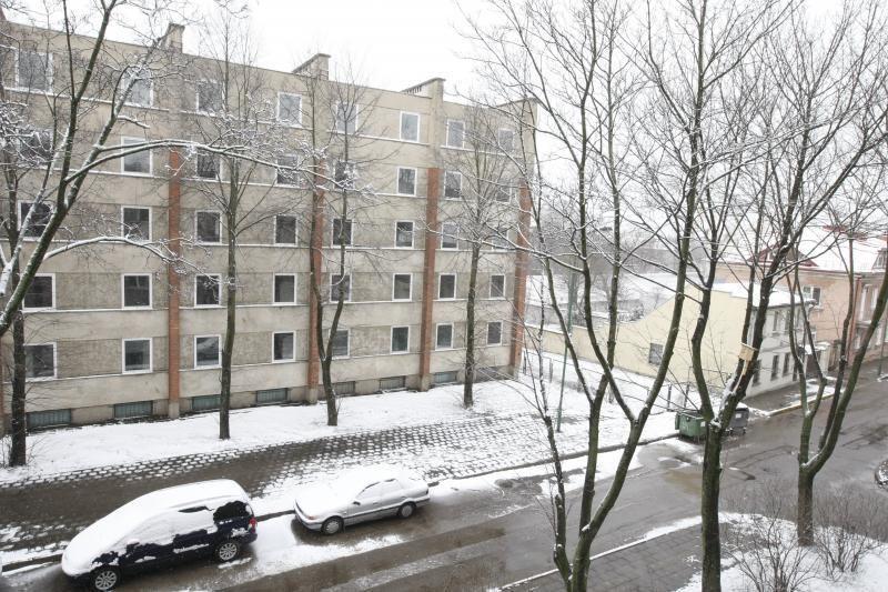 Velykų rytą Klaipėdoje gausiai prisnigo