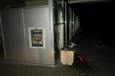 Žaibiškų vagysčių profesionalai nusitaikė į bankomatą