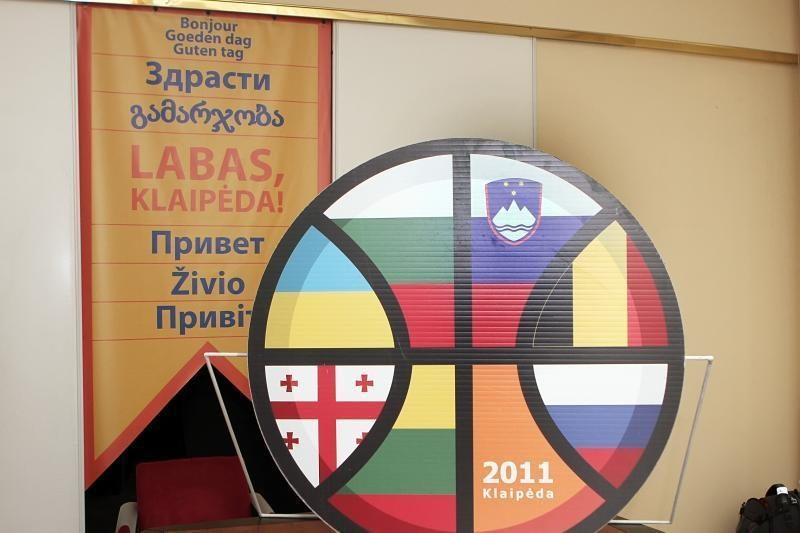 Klaipėdos centre – krepšinio čempionato ženklai
