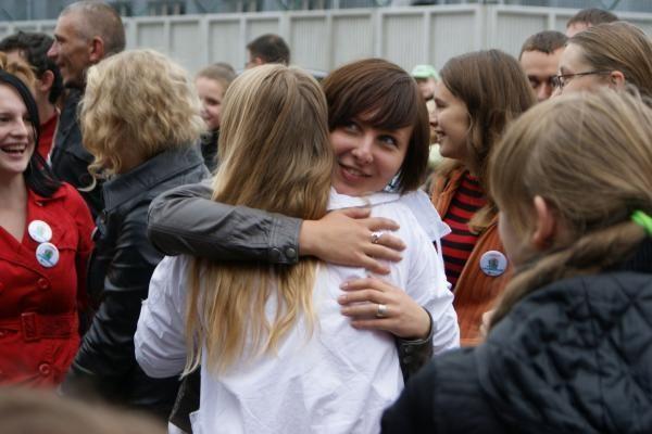 Kaune pasiektas apsikabinimų rekordas