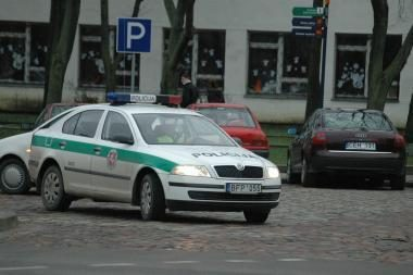 Nuo policininkų paspruko mašinų vagis