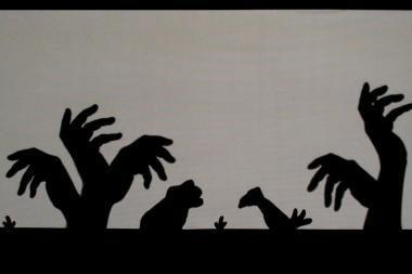 Palangoje - rankų šešėlių teatras iš Gruzijos