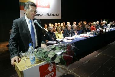 Socialdemokratų lyderį neramina partijos perspektyvos Vilniuje