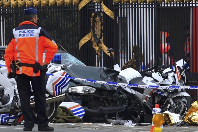 Belgijoje savižudis vairuotojas sužalojo aštuonis policininkus