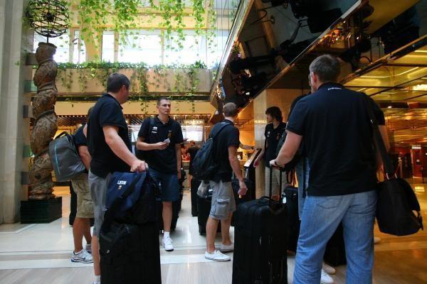 Lietuvos vyrų krepšinio rinktinė atvyko į Ispaniją