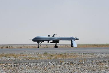 JAV naudos bepiločius lėktuvus prieš Kadhafi pajėgas