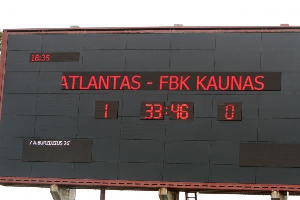 """FBK """"Kaunas"""" įveikė Klaipėdos """"Atlantą"""""""