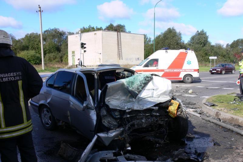 Lenkijos pilietis Klaipėdoje sukėlė avariją, sužaloti trys žmonės