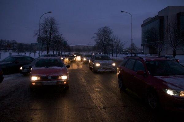 Protestas prieš automobilių mokestį – negausus ir padrikas