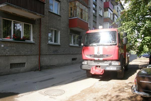 Viename iš Klaipėdos butų kilo gaisras