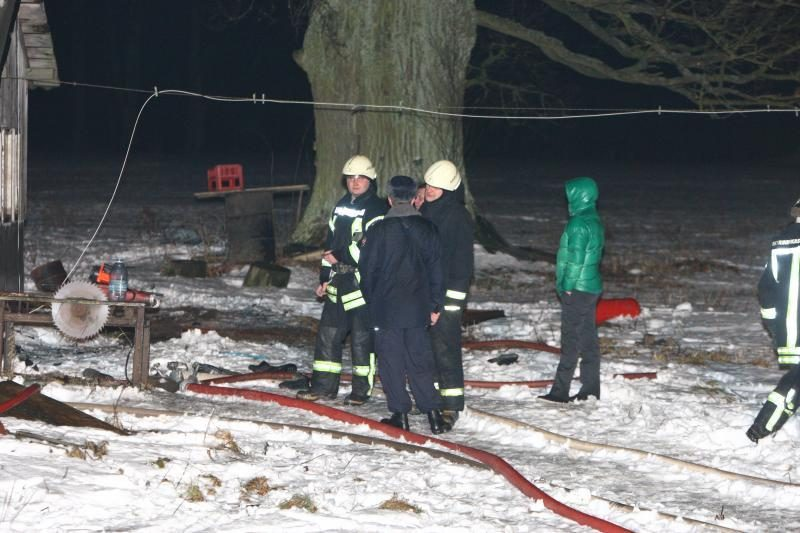 Mirtinos Kalėdos: per gaisrą Kauno rajone  žuvo moteris