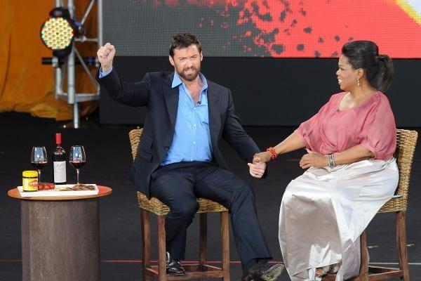 Aktorius H.Jackmanas susižeidė leisdamasis lynu į televizijos pokalbių šou