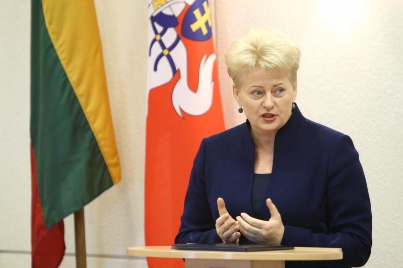 """JAV lietuviai prezidentei skandavo """"Gėda!"""""""