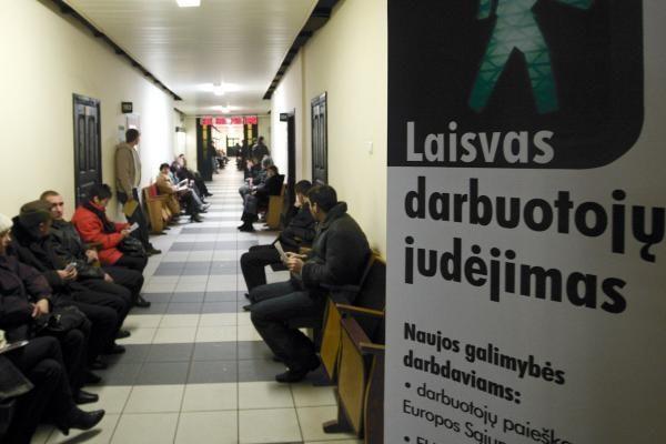 Lietuvoje darbo neturi dešimtadalis darbingo amžiaus gyventojų