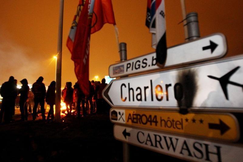 Belgiją paralyžiavo visuotinis streikas