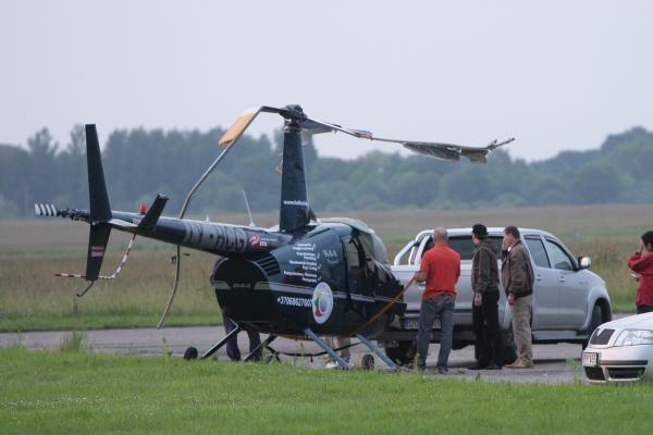 Avariją patyrė J.Borisovo pilotuojamas sraigtasparnis (papildyta)