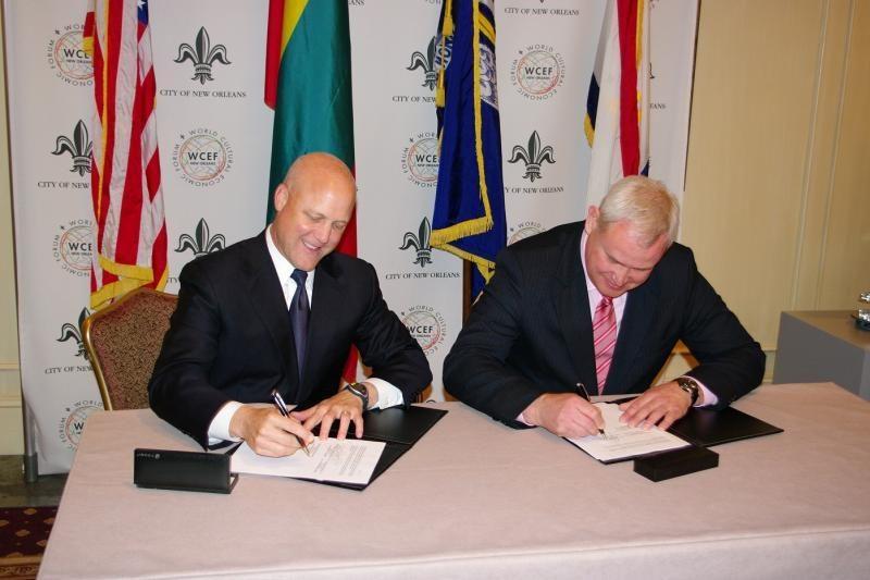 Klaipėda ir Naujasis Orleanas pasirašė partnerystės ketinimų protokolą