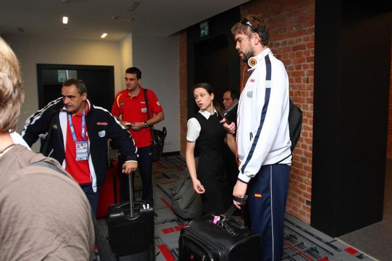 Į Kauną atvyko Europos krepšinio čempionai ispanai