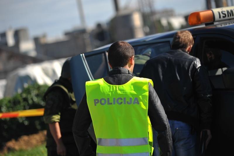 Aleksote iškastas sprogmuo darbininkams įvarė baimės