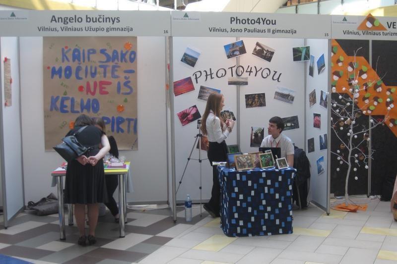 Vilniuje - mokinių mokomųjų bendrovių mugė
