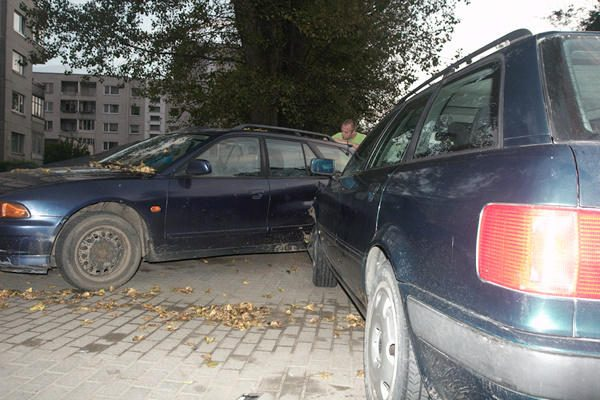 Blogai pasijutusį vairuotoją po avarijos gaivino praeiviai
