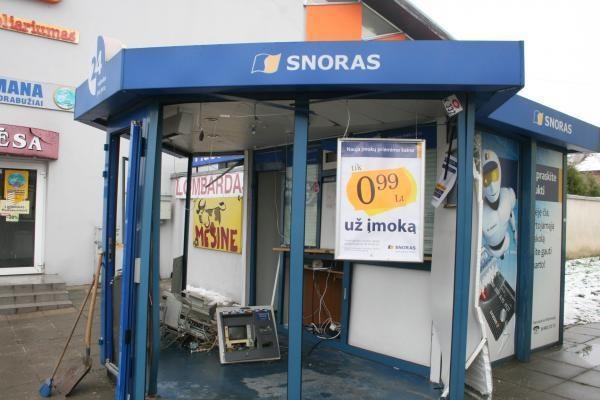Kaune susprogdintas banko