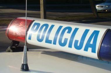 Uostamiestyje į avariją pateko policijos kursantas