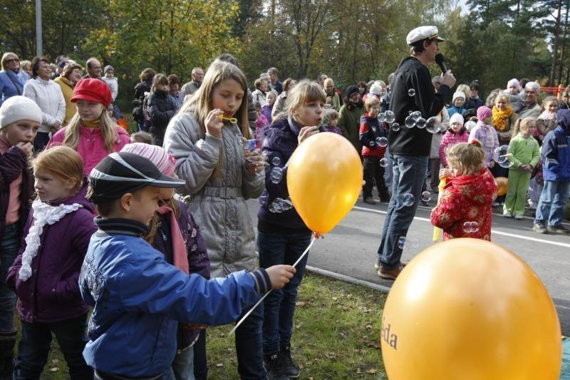 Parke šurmuliavo klaipėdiečių šeimų šventė