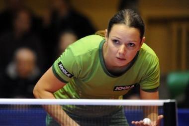 R.Paškauskienė poroje su ruse tapo Europos stalo teniso čempione
