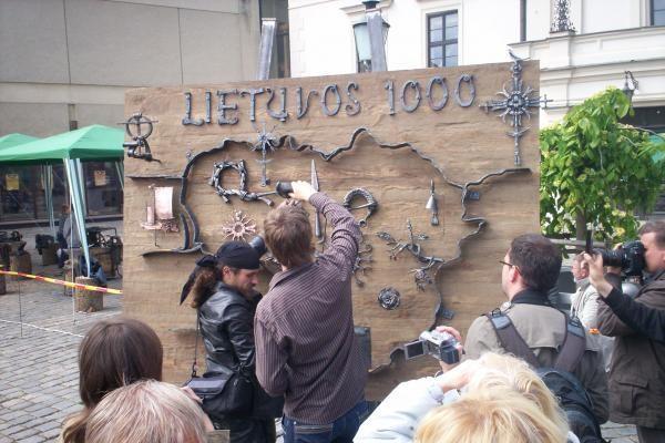 Klaipėdoje kalviai paminėjo Lietuvos tūkstantmetį