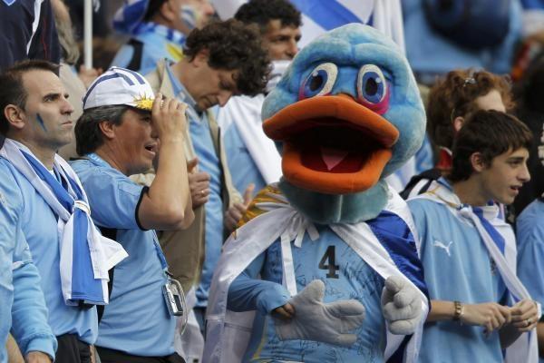 Urugvajaus rinktinė - pirmoji ketvirtfinalio dalyvė