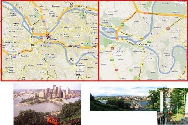 Kaunas vs Pitsburgas - rask skirtumų