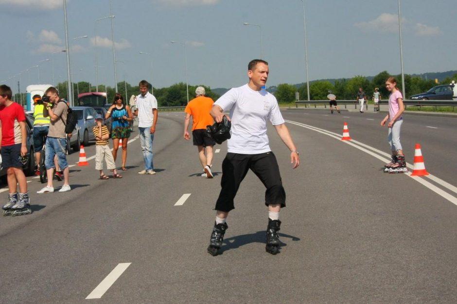 Kaune vyko antrasis riedučių maratonas