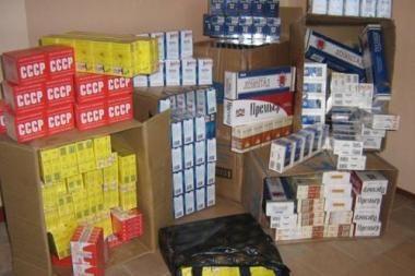 Uostamiesčio turguje – kontrabandinės cigaretės