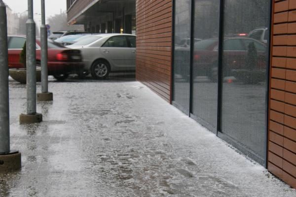 Klaipėdoje iškrito pirmasis sniegas