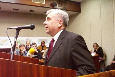 Klaipėdos mero vengimas rengti ataskaitą aptartas Seime